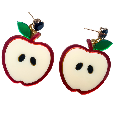 Juicy to the Core - Apple Earrings