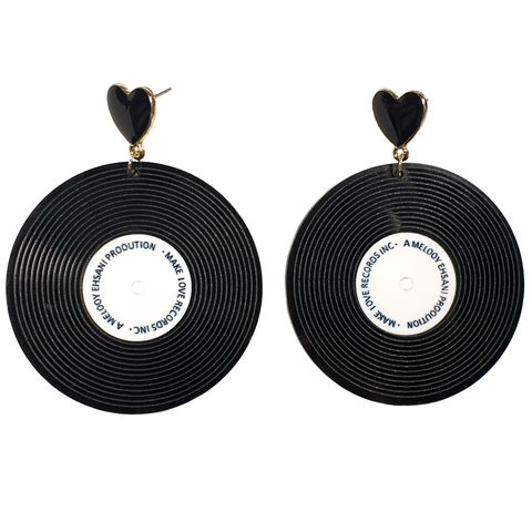 Play that Funky Music! Vinyl Record Earrings
