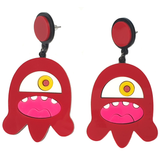 Cyclops Monster Acrylic Earrings