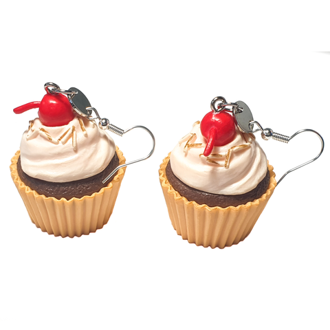 Giant Cherry Cupcake Earrings