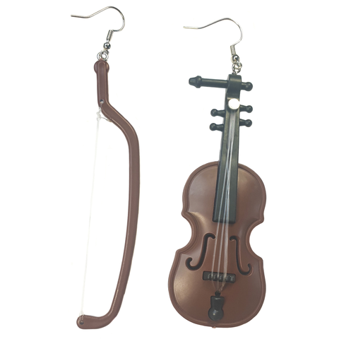 Violin and Bow Earrings