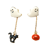 Ghost, Pumpkin & Cat Dangle Earrings