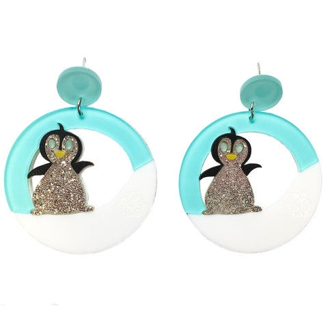 Cute Penguin Acrylic Earrings