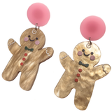 Gingerbread Man Acrylic Earrings