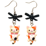 Kitty & Bow Dangle Earrings