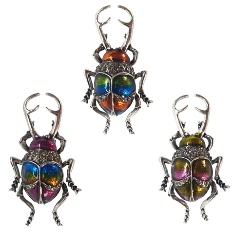 Metallic Beetle Brooch