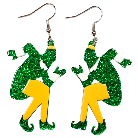 Santa.... I know him! 🎅 Christmas Elf Earrings