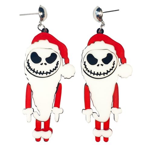What's this? What's this? Spooky Christmas Earrings