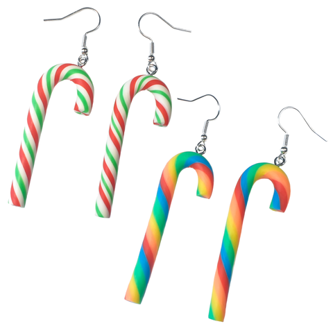 Take a trip down Candy Cane Lane ❄✨ Earrings