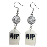 RIP ☠ Gravestone Earrings