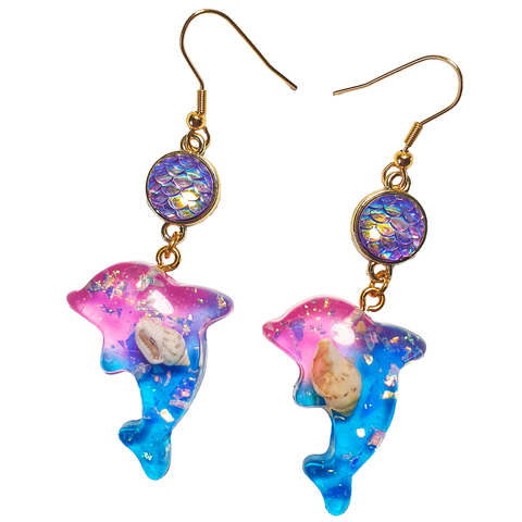 Dolphin Dreams - Resin Earrings