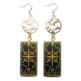 Tarot Card Earrings - The World