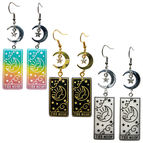 Tarot Card Earrings - The Moon