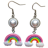 Dreamy Pastel Rainbow Earrings