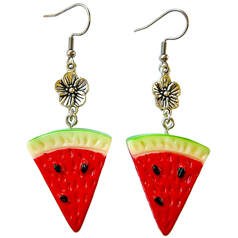 Juicy Watermelon Slice Earrings