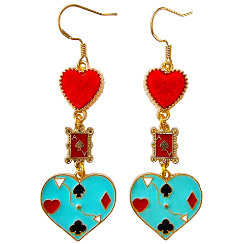 Queen of Hearts ❤ Enamel Earrings