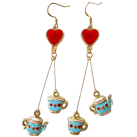Tea Party ☕ Enamel Earrings