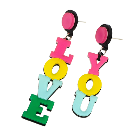 'Love You' Earrings - cheeky-trendy