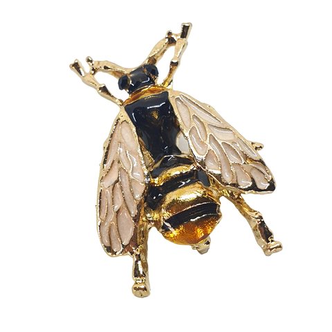 Handpainted Bumblebee Brooch - cheeky-trendy