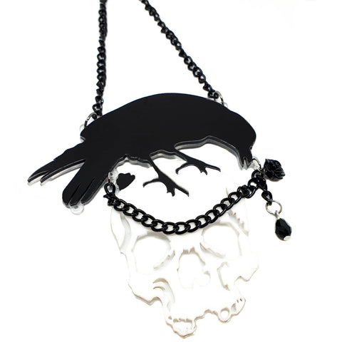 Huginn The Raven Necklace - cheeky-trendy