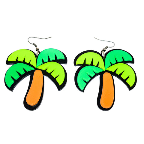 Tropical Palm Tree Earrings - cheeky-trendy