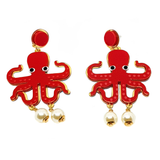 Colourful Octopus Earrings - cheeky-trendy