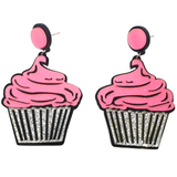 Glittery Icing Cupcakes Earrings - cheeky-trendy