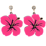 Hibiscus Flower Earrings - cheeky-trendy