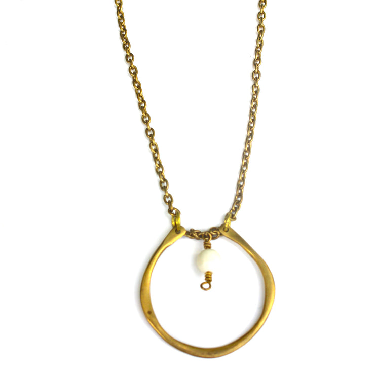 One Drop Brass Necklace