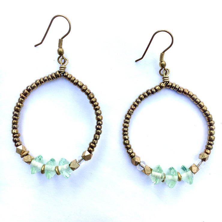 Seafoam Green Earrings