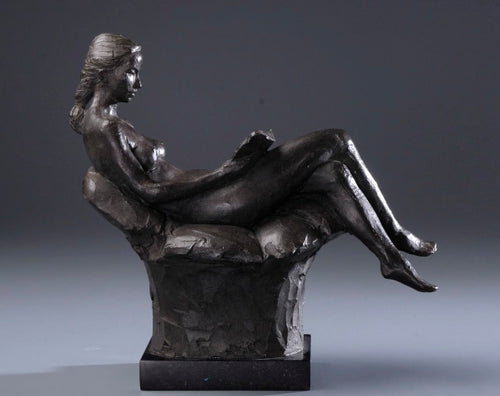 Seated Figure Reading - LeQuire Gallery
