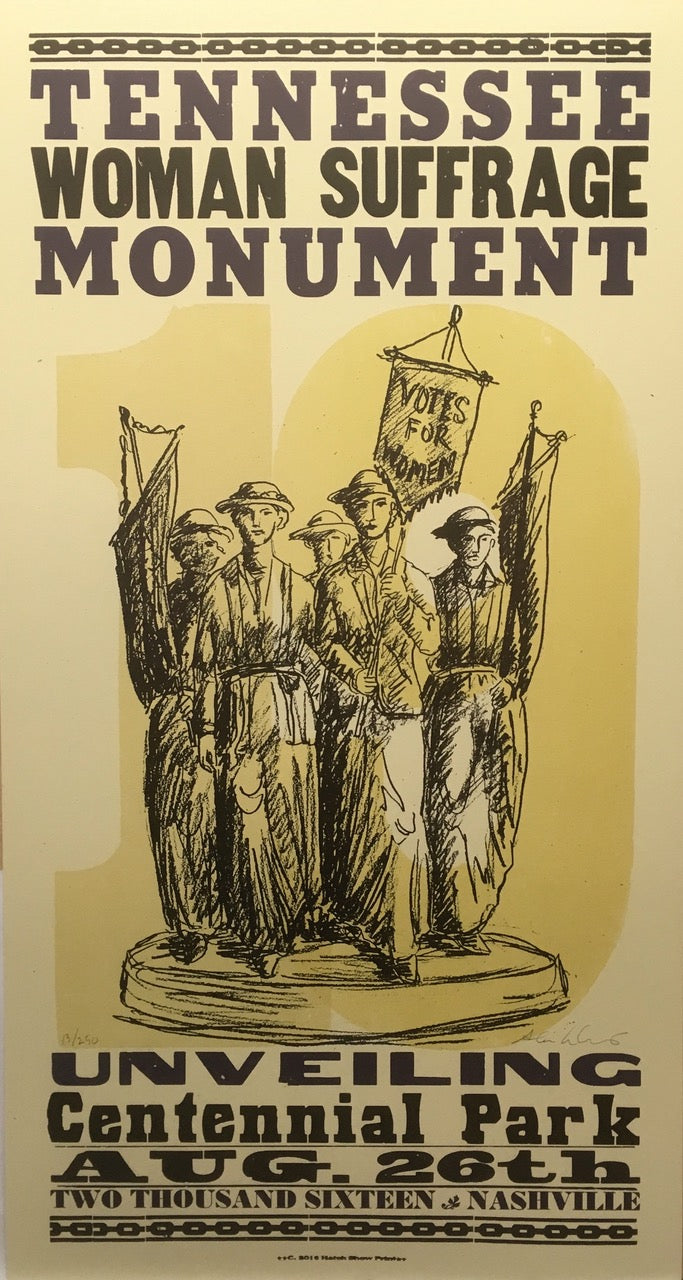 Tennessee Woman Suffrage Monument Commemorative Poster