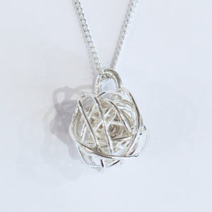 Silver knot pendant