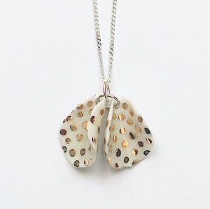 Silver and porcelain pendant