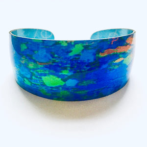 Coloured aluminium bangle