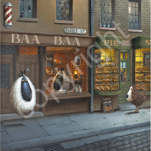 """Baa Baa of Fleece Street"" canvas print"