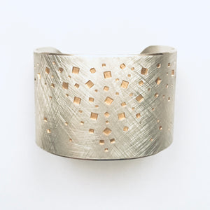 Silver and gold detail bangle