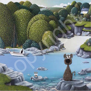 """Bunny Cove"" canvas print"