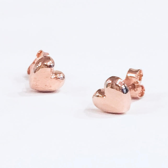 18ct gold vermeil heart earrings
