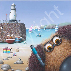 """Snorkel in the Harbour"" canvas print"
