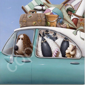 """Holiday with Ewe"" canvas print"
