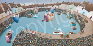 """See Ewe in the Harbour"" canvas print"