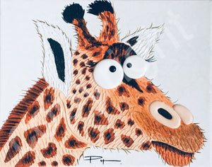 """Jolly Joyful Giraffe"" original art canvas"