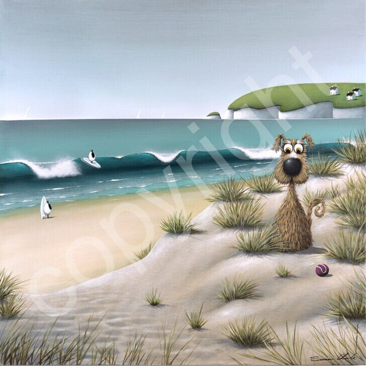 """Ruff Sea"" canvas print"
