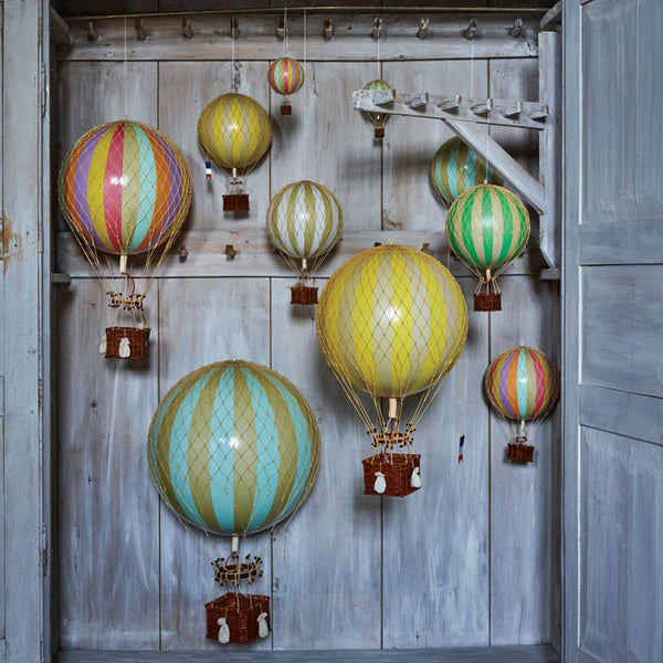 Collection of Hot Air Balloons - Red, Yellow, Blue, Green, Rainbow