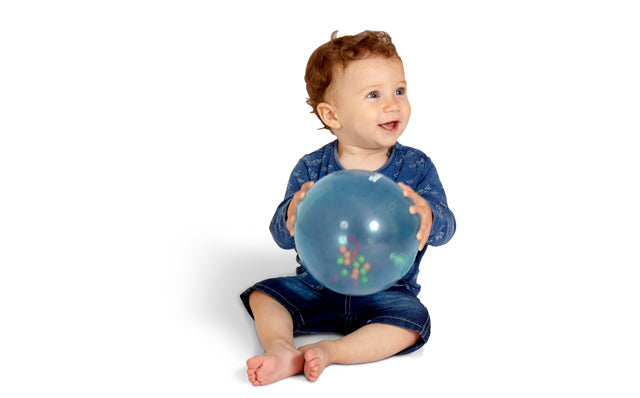 The Art of Christmas Shopping for… Other People's Kids. Rainbow soft ball sensory toy.