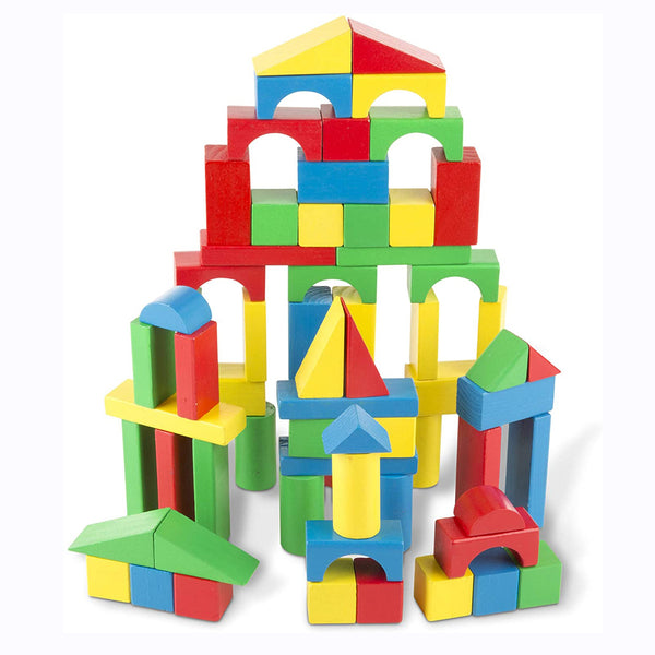 Your little builders can get creative with these brightly coloured blocks from Melissa and Doug. This collection of 100 blocks comes in four colors and nine shapes.
