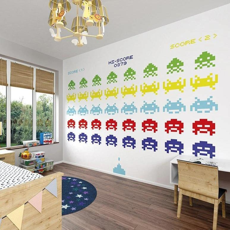 Battle in Space Wall Mural - Rooms for Rascals, a Leafy Lanes Retailers Ltd business