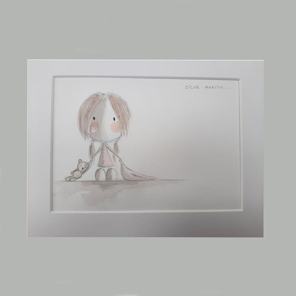 Oíche Mhaith Watercolour Prints Pink (Set of 2) - Rooms for Rascals, a Leafy Lanes Retailers Ltd business