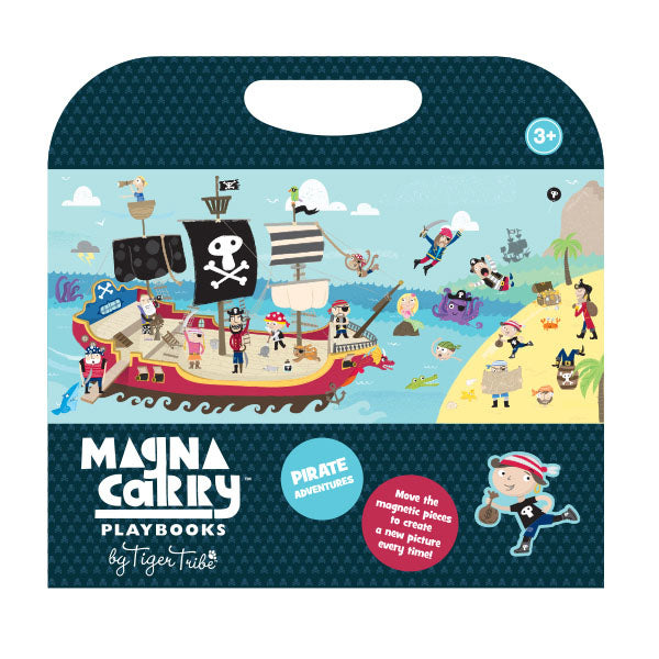 There's so much fun to be had with our fold-out double-sided pirate ship play scene and 2 sheets of  magnetic stickers.